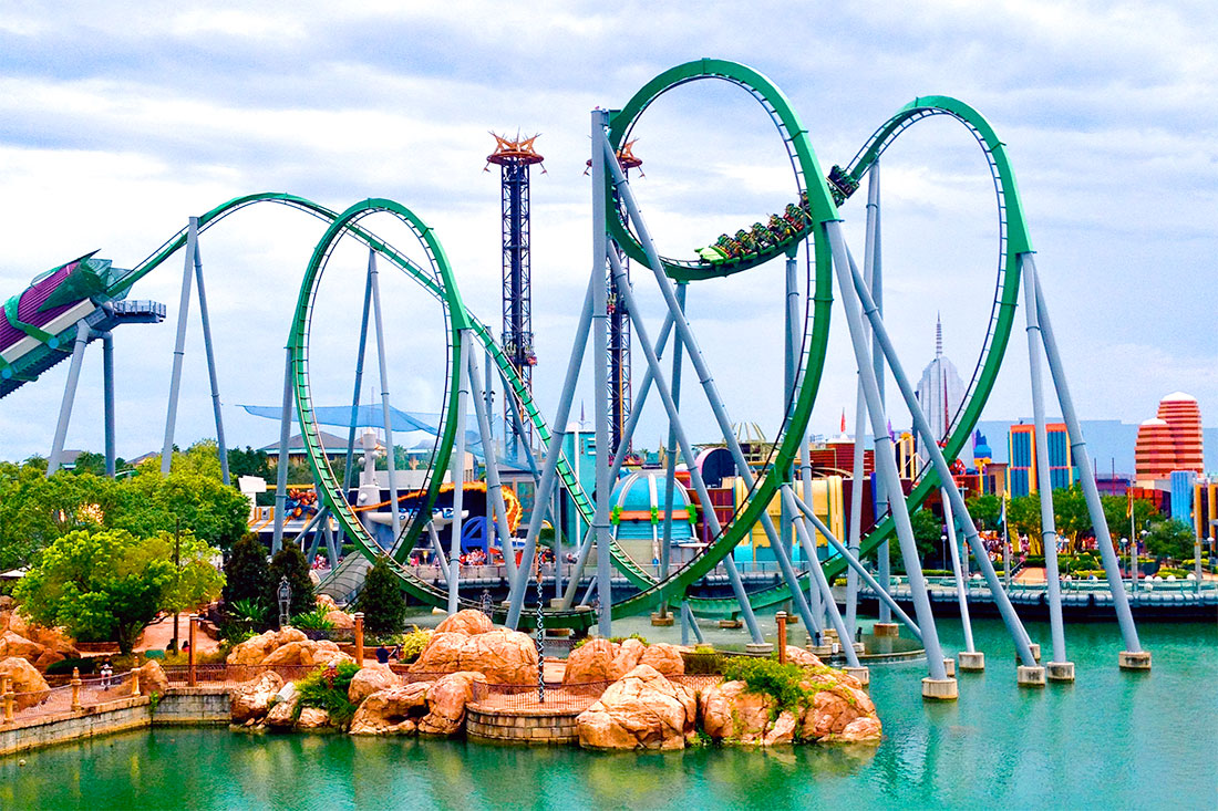 The Incredible Hulk Coaster at slands of Adventure