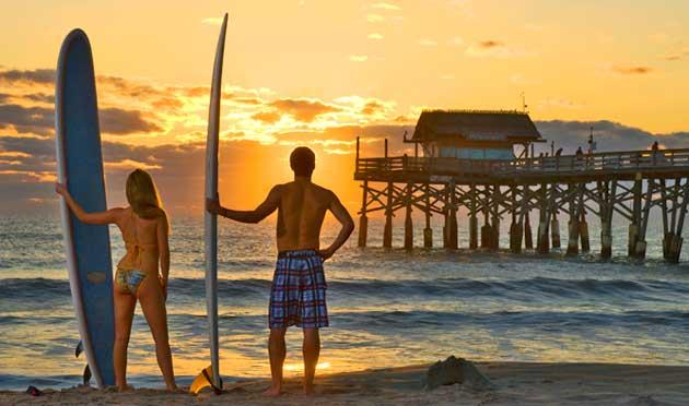 Space Coast Cocoa Beach Sunrise Surf session