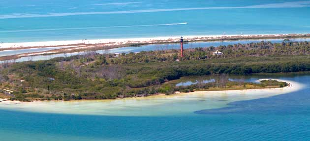 Anclote Lighthouse Aerial Pasco County