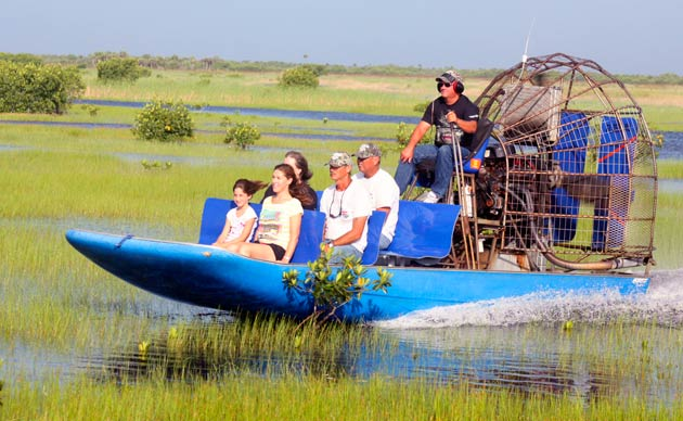 Captain Mitch's Airboat Through The Everglades