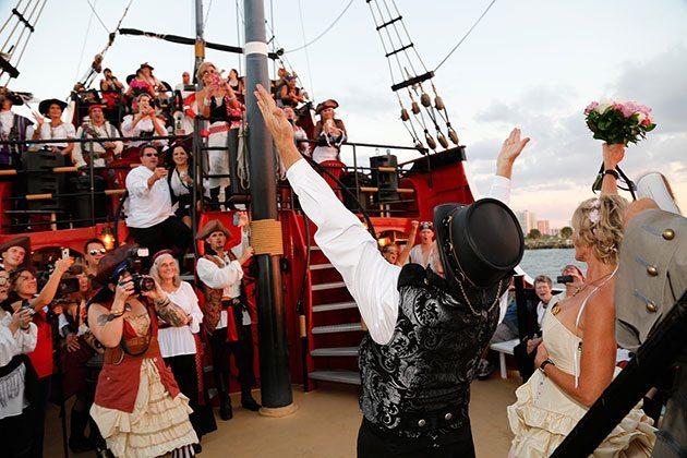 Captain Memo's Pirate Cruise Pirate Ship wedding