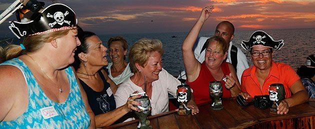 Captain Memo's Pirate Cruise sunset