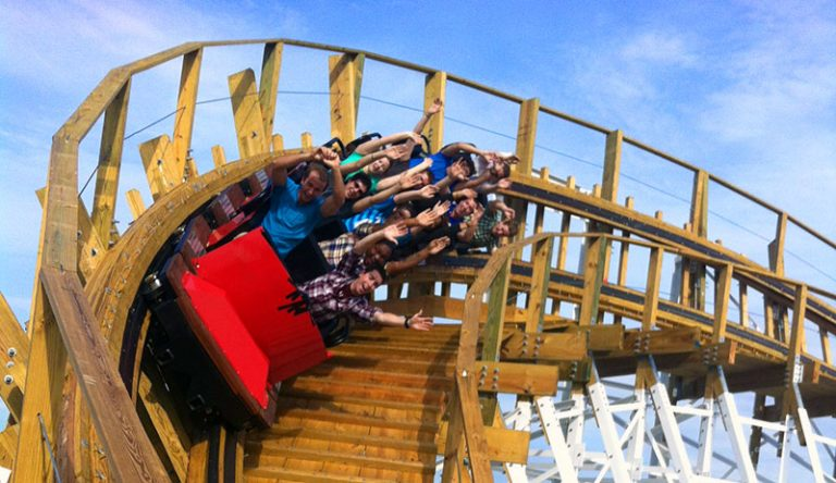 Fun Spot Wood Coaster