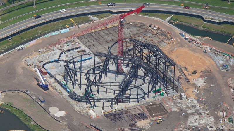 Tron roller coaster track takes shape at Disney World