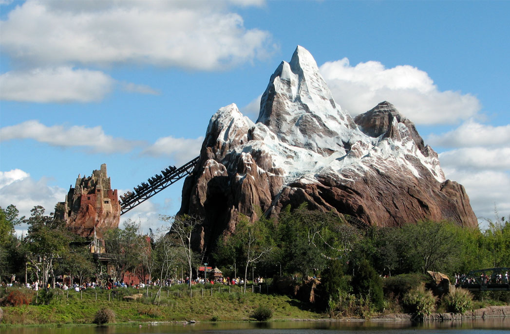 expedition everest rollercoast at disney's animal kingdom theme park
