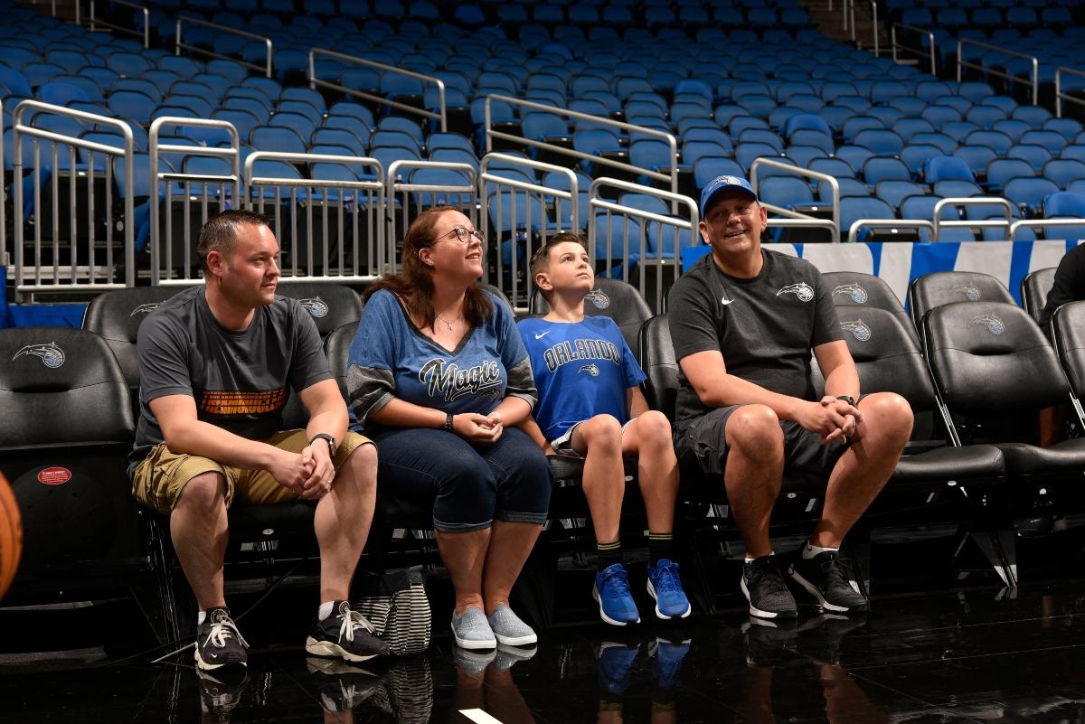 Orlando Magic family courtside