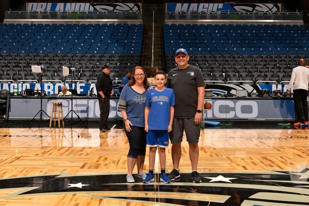 orlando Magic game with family