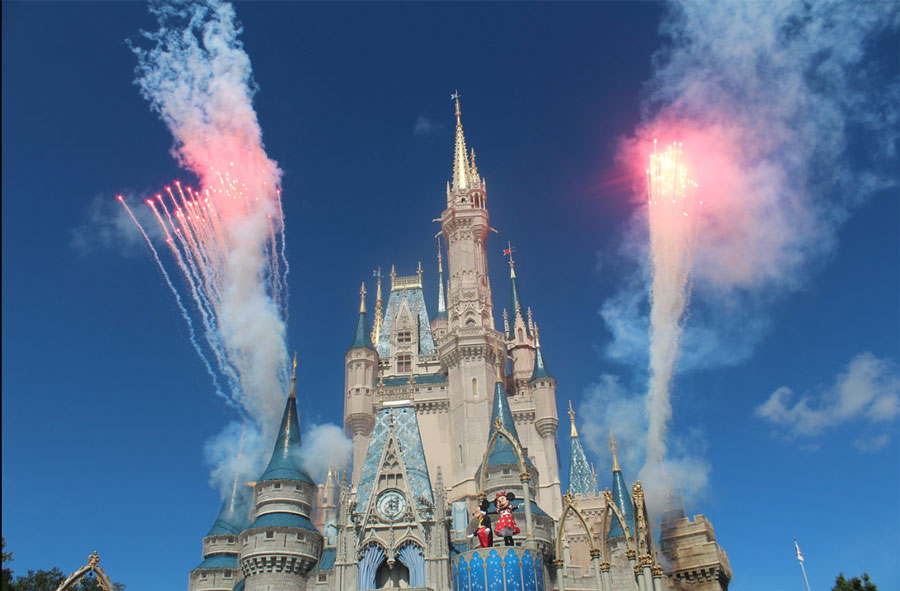 Magic kingdom castle at walt disney world resort florida
