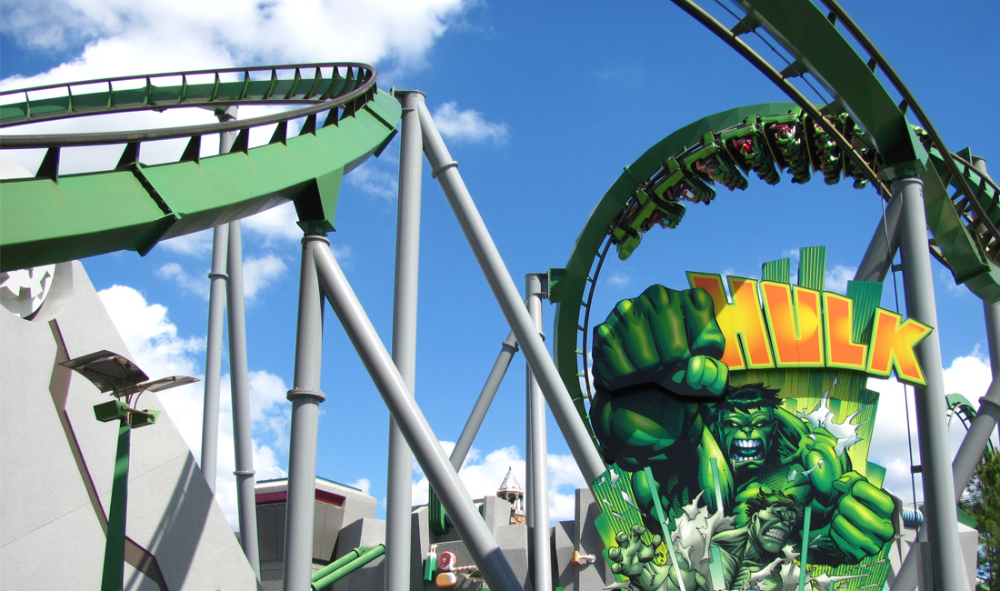 Hulk rollercoaster at islands of adventure