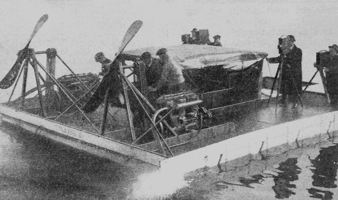 old fashioned airboat
