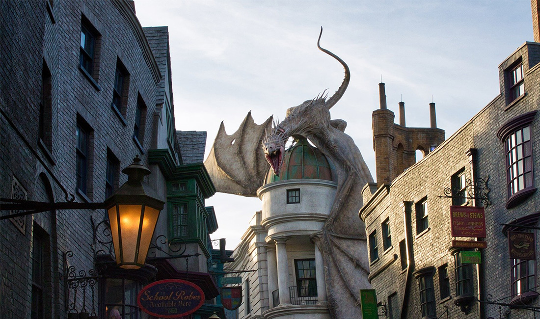 The dragon at Wizarding World of Harry Potter
