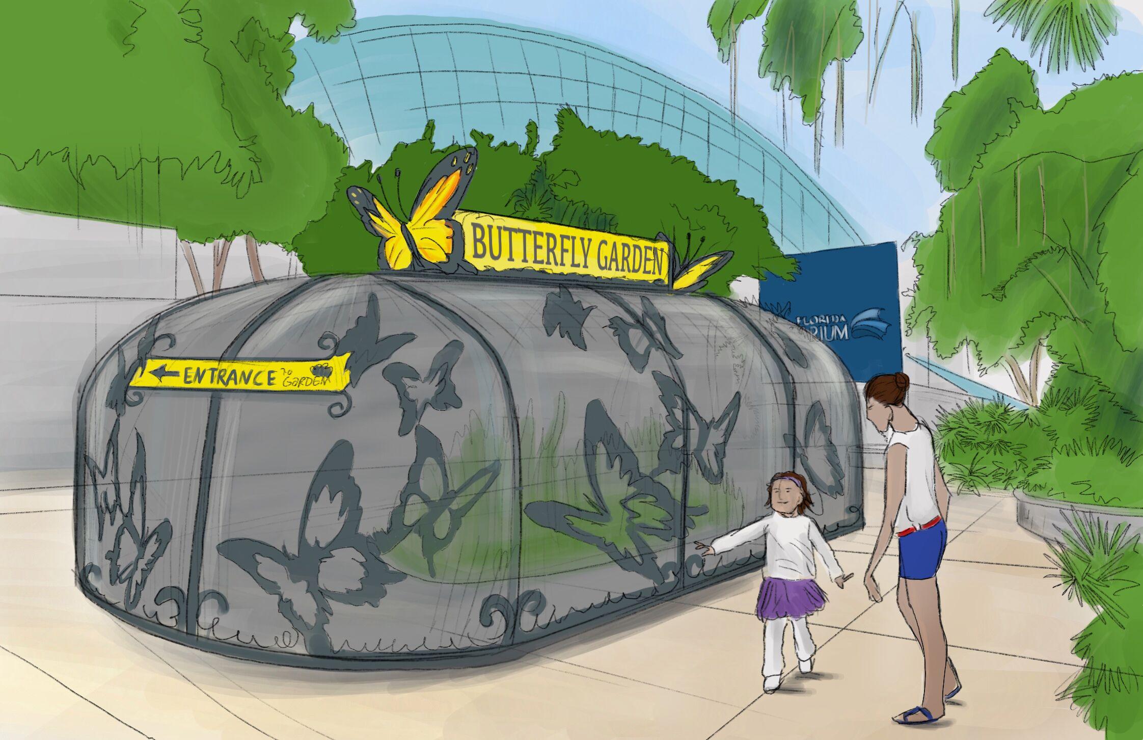 Butterfly Garden rendering