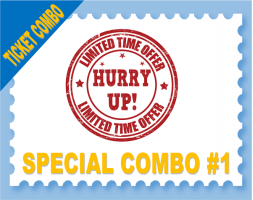 BASE BUNDLE SPECIAL - Disney 2 Day Base / Universal 2 Park 2 Day Hopper COMBO