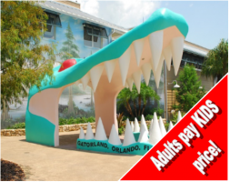 Gatorland One Day Ticket - ADULT PAY KIDS SPECIAL!!