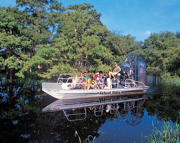 Kennedy Space Center and Airboat Safari + round trip transportation