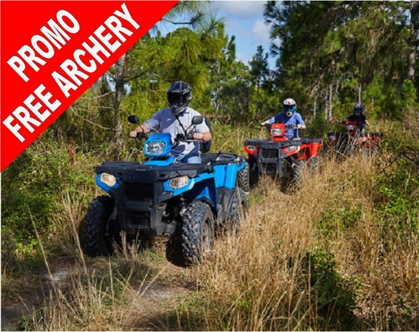 Revolution Adventures Polaris ATV 450 Experience PROMO - ARCHERY FOR FREE!