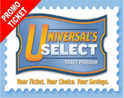Universal 2-Parks 4 Day Base PROMO TICKET