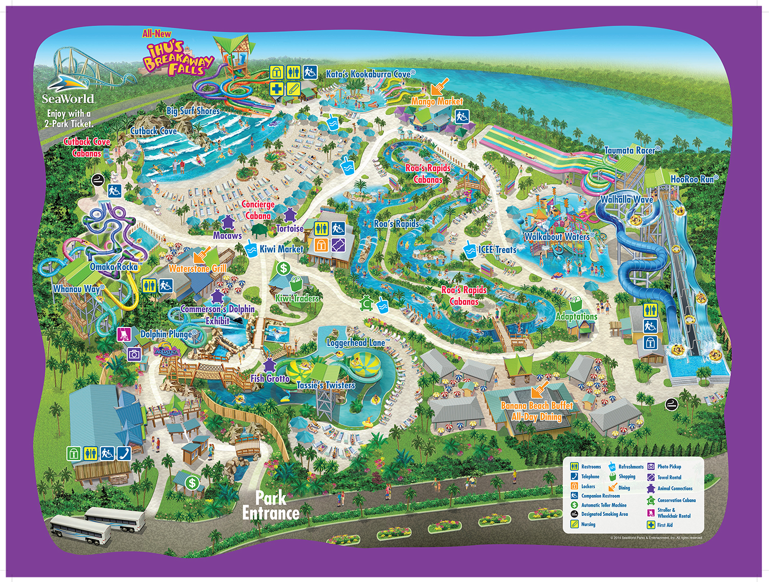 Seaworld park map theme park attractions map seaworld orlando seaworld orlando aquatica tickets best value seaworld park pass aquatica park map gumiabroncs Image collections