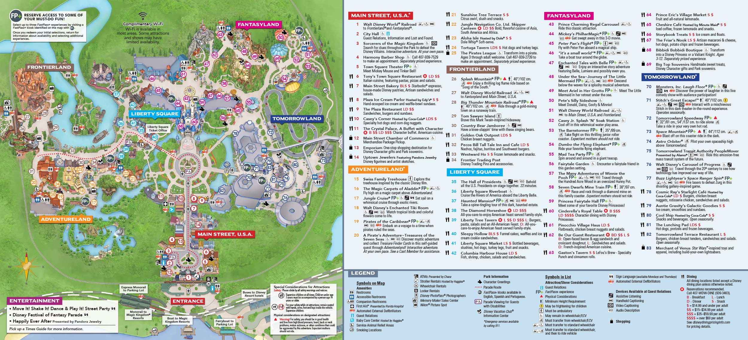 This is a graphic of Vibrant Printable Disney World Maps 2020