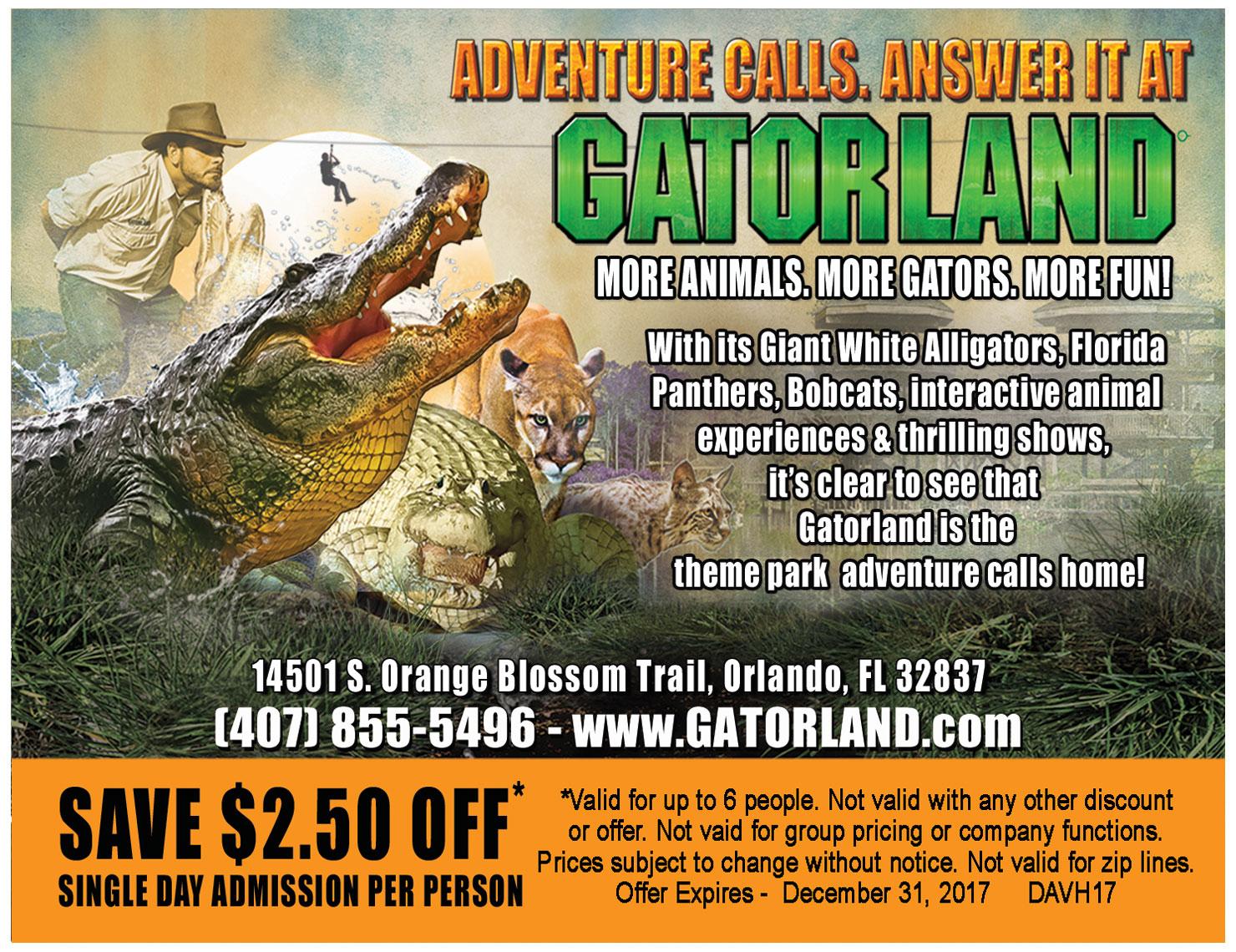 Gatorland orlando coupons